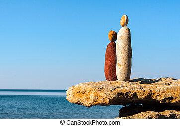 pedras, estatuetas, simbólico