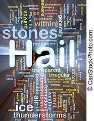 pedras, glowing, conceito, granizo, fundo