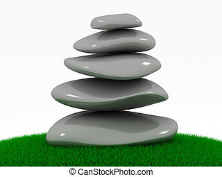 pedras, massagem