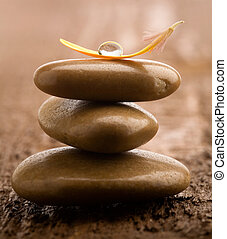 pedras, pilha, massagem