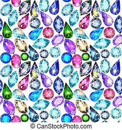 pedras, precioso, seamless, fundo, resplendecer