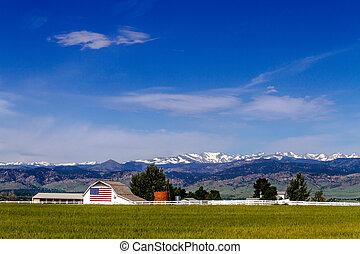 pedregulho, bandeira, co, americano, celeiro