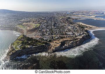 pedro, 航空写真, san, アンジェルという名前の人たち, los, カリフォルニア