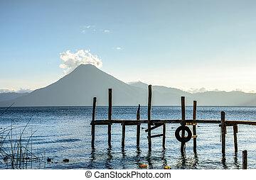 pedro, san, lac, guatemala, atitlan, volcan