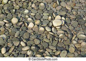 peeble stones with water