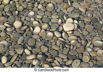 peeble stones with water