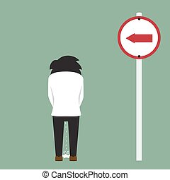 peeing man on roadside, vector illustration