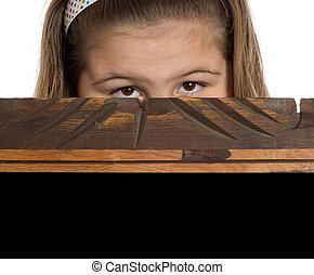 peeking, criança