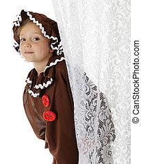 "Peeking Gingerbread Girl - A cute elementary ""gingerbread ..."