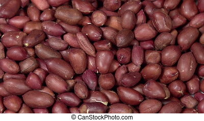 Peeled Peanut Kernels - Front of the camera rotates plate...