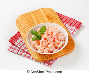 Peeled shrimps - Bowl of plain peeled shrimps