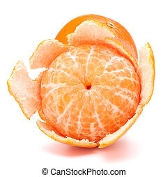 Peeled tangerine or mandarin fruit