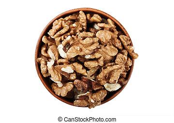 peeled walnuts isolated
