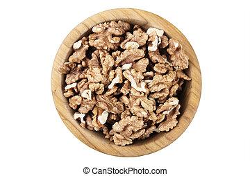 peeled walnuts on a plate