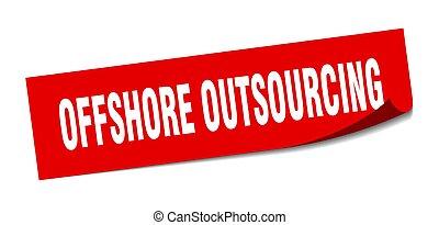 peeler, teken., outsourcing, sticker., plein, voor de kust,...