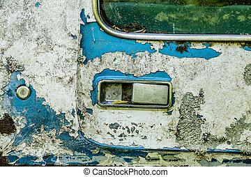 Peeling Blue Paint on Old Truck