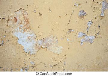 Peeling Painted Wall