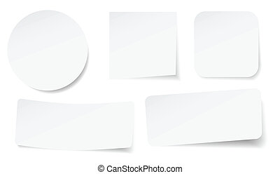 peeling stickers - set of peeling stickers in different...