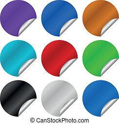 Peeling stickers vector