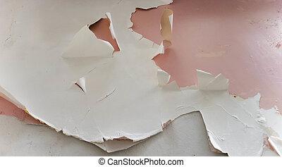 Peeling White Paint on Pink