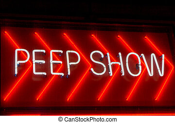 Peep Show sign in Amsterdam