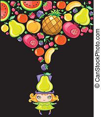 peer, meisje, (fruity, series)