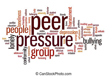 Peer pressure word cloud - Peer pressure concept word cloud...