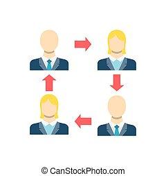 Peer to Peer Vector Icon - Peer to Peer Concept, Person, ...