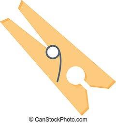 peg vector flat colour icon