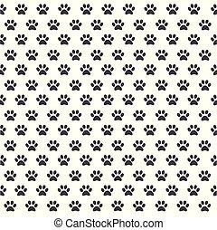 pegada, padrão, seamless, animal, pata
