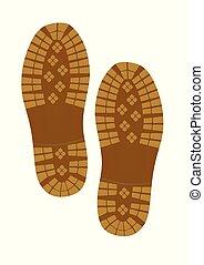 pegada, sapato