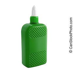 pegamento, botella