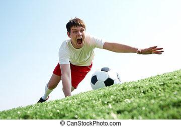 pegando bola
