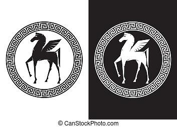 pegasus, flyve, hest