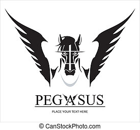 Pegasus Horse Head - suitable for team identity, sport club...