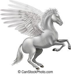 Pegasus horse - Illustration of the legendary winged horse ...