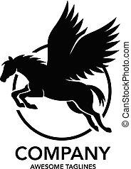 Pegasus logo vector.