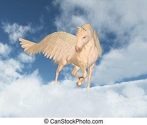 pegasus, look down, por, nubes
