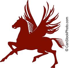 pegasus, paarde, vliegen