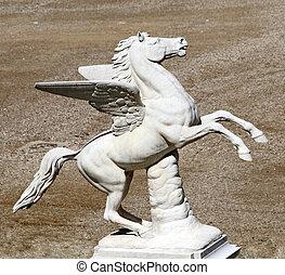 Pegasus sculpture - from Boboli Garden, Florence, Italy,...