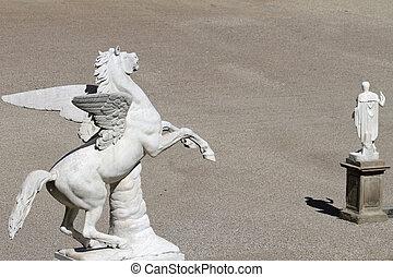 Pegasus sculpture in Boboli Garden,  Florence, Tuscany