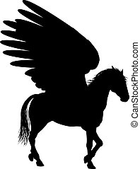 Pegasus Silhouette Horse