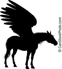 Pegasus Winged Horse Silhouette