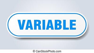 pegatina, aislado, button., signo., redondeado, variable, ...