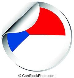 pegatina, diseño, para, bandera de chile