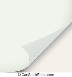 pegatina, papel, doblado, ilustración, esquina