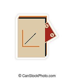 pegatina, papel, elegante, dinero, informe, financiero