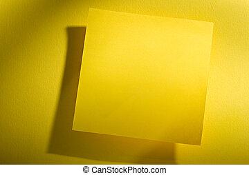 pegatina, plano de fondo, amarillo