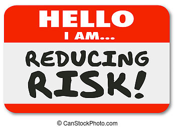 pegatina, reducción, riesgo, reducir, peligro, etiqueta, ...
