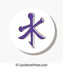 Pegatina,  vector, confucionismo, icono
